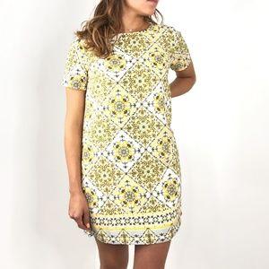 Lulu's Dresses - LULUS Dandy Lion Yellow Print Shift Dress Small